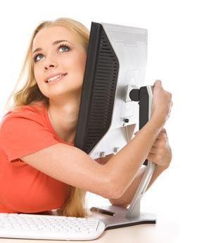 Girl using computer 34